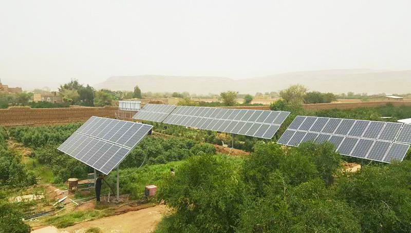 Système de pompe solaire Restar 22KW pour l'irrigation agricole à Sanaa, au Yémen.