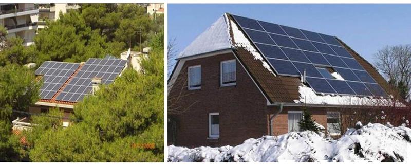 Système solaire Restar 10KWp monté sur le toit et relié au réseau en Grèce, octobre 2007.