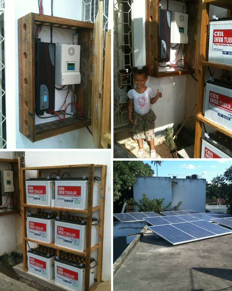 Système solaire domestique hors réseau Restar 6KWp en Tanzanie, mai 2013.
