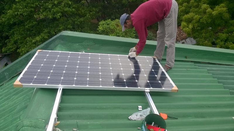 Projet solaire de connexion au réseau Restar 32KW à Colombo, au Sri Lanka, en 2015